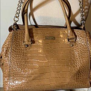 Kate Spade faux croc satchel 13 x 10